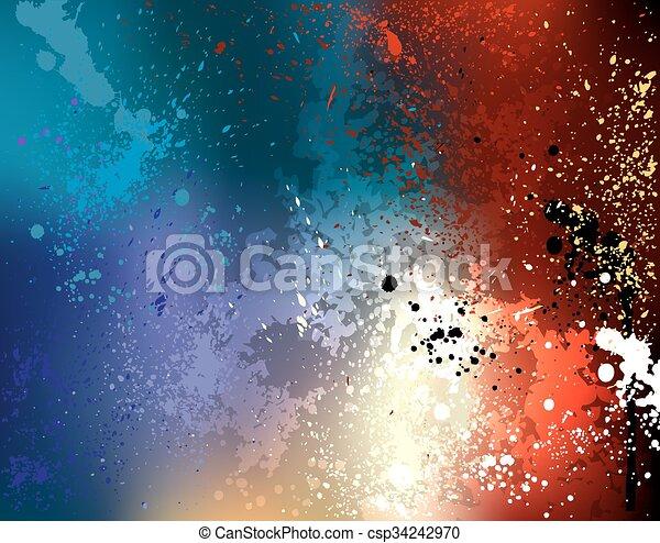 coloré, fond, clair - csp34242970