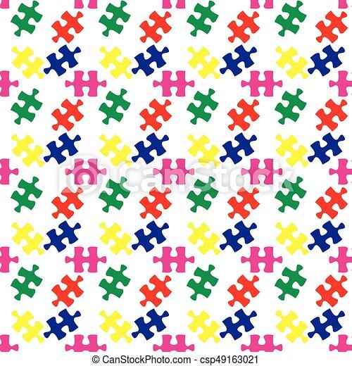 coloré, modèle, puzzle, puzzle, seamless, vecteur - csp49163021