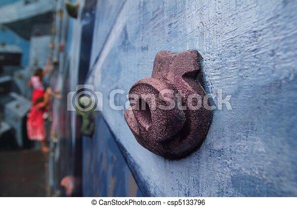 coloré, mur, tient, grimpeurs, apprentissage, escalade - csp5133796