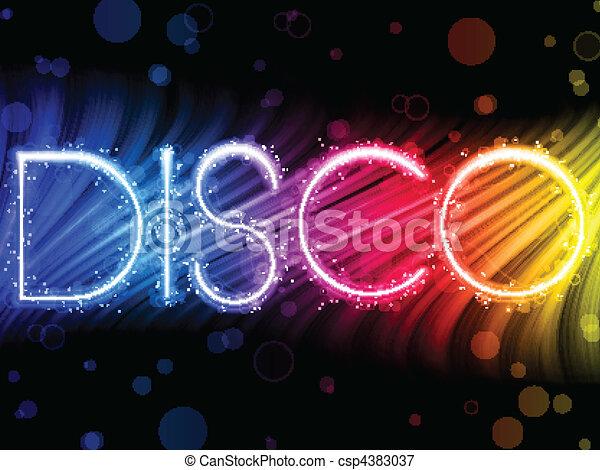 coloré, résumé, disco, arrière-plan noir, vagues - csp4383037