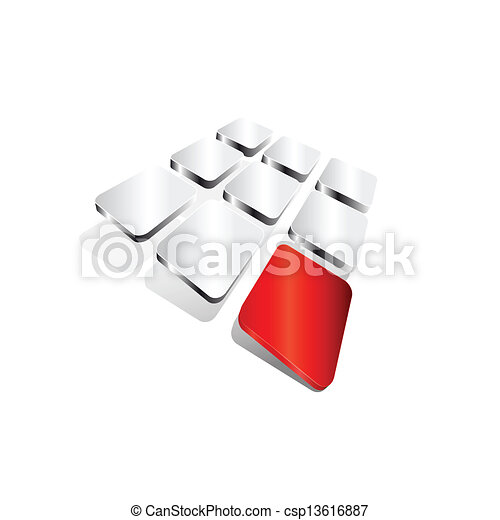 coloré, résumé, fond, vecteur, forme - csp13616887