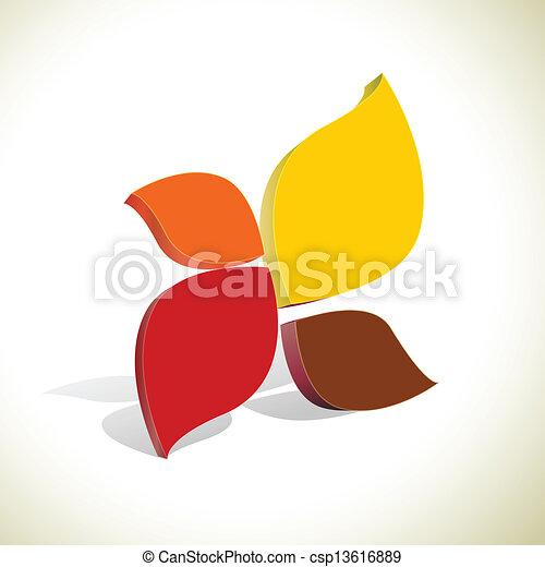 coloré, résumé, fond, vecteur, forme - csp13616889