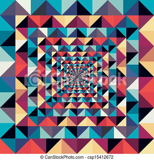coloré, résumé, pattern., seamless, effet, visuel, retro - csp15412672