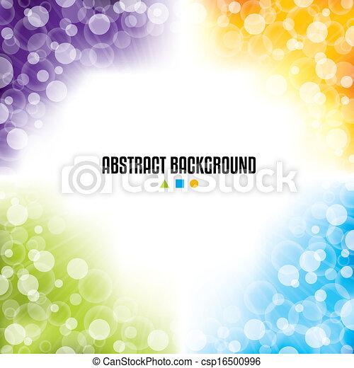 coloré, résumé, quatre, couleurs, conception, fond - csp16500996