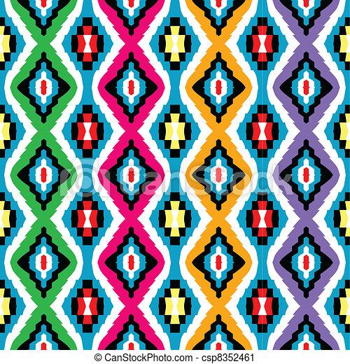 coloré, texture, ethnique - csp8352461