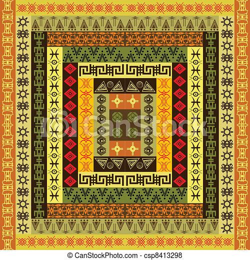 coloré, texture, ethnique - csp8413298