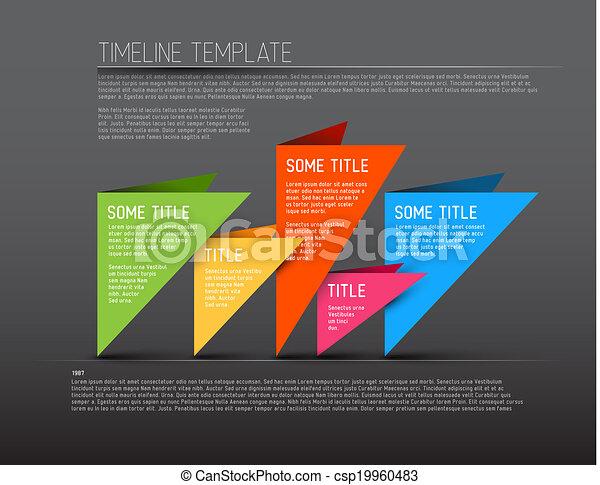 coloré, timeline, sombre, infographic, gabarit, rapport - csp19960483