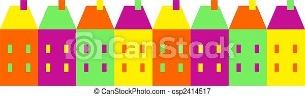 coloré, village - csp2414517