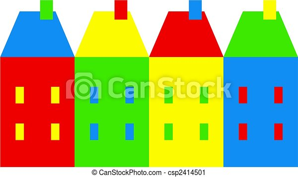 coloré, village - csp2414501