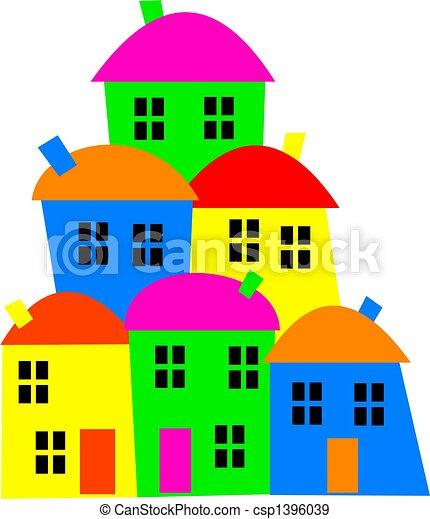 coloré, village - csp1396039