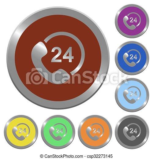 Color 24 hour service buttons - csp32273145