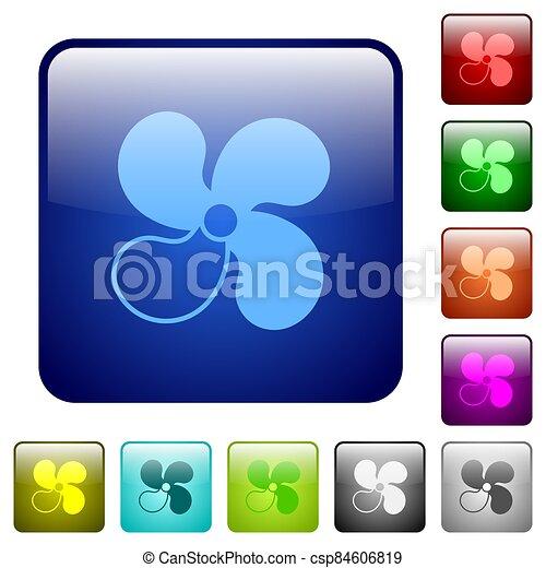 color, 3, botones, ventilador, cuadrado, nivel, coche - csp84606819