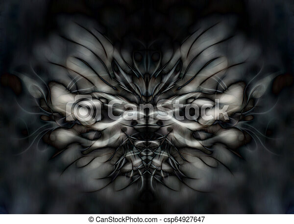 color abstract background with filigrane fractal structure. - csp64927647