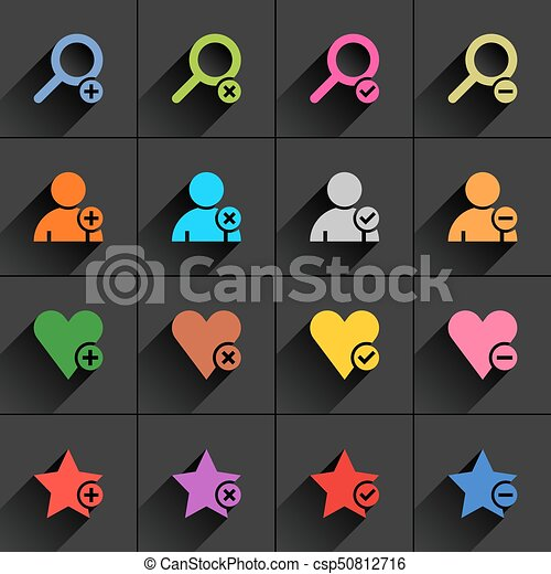 Color additional sign flat icon - csp50812716