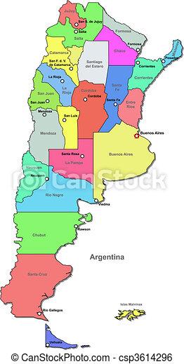 Color Argentina map - csp3614296