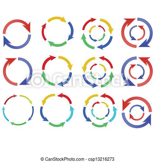 Color Arrow circle - csp13216273