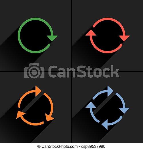 Color arrow loop, refresh, reload, rotation icon - csp39537990