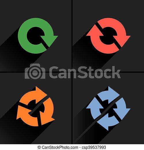 Color arrow loop, refresh, reload, rotation icon - csp39537993
