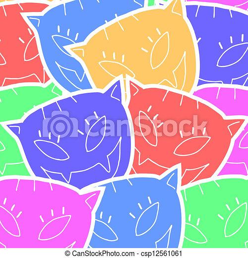 Color art cat - csp12561061