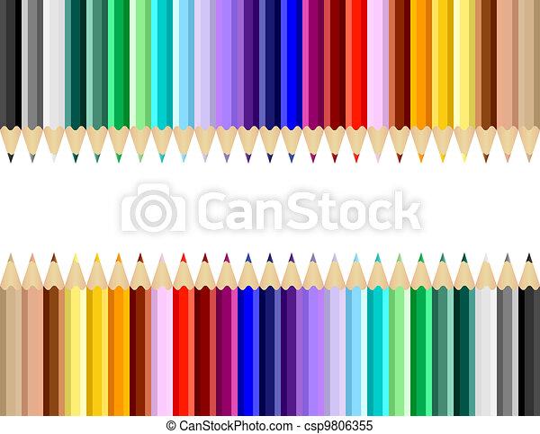Color Art Pencils Background - csp9806355