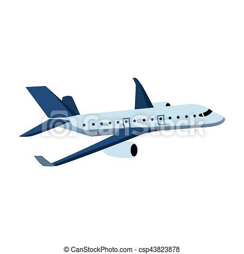 Color, avión, diseño, ilustración.