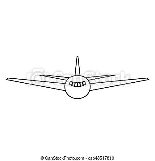 Color, avión, negro, icono. Color, avión, negro, él, icono.