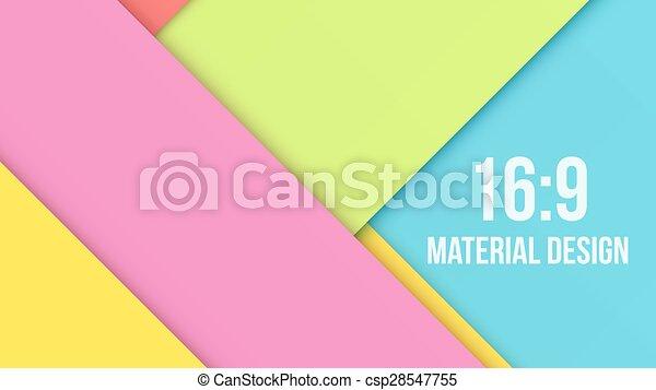 Color Background Unusual modern material design - csp28547755