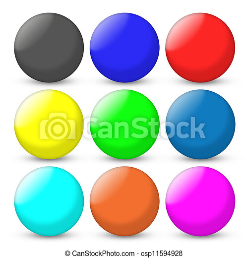 Color balls set - csp11594928
