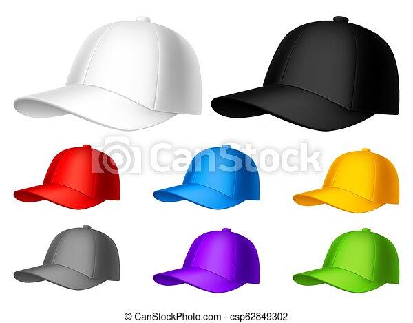 Color Baseball Cap - csp62849302