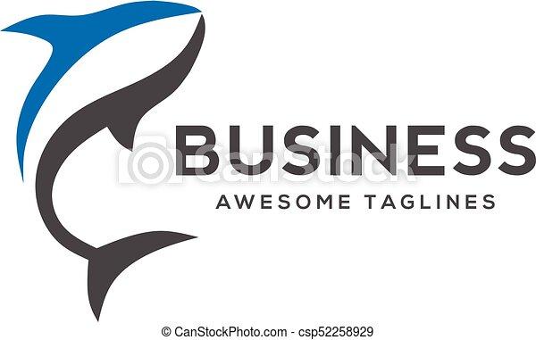 Color Big Fish Vector Fish Logo Template Creative Shark Fish