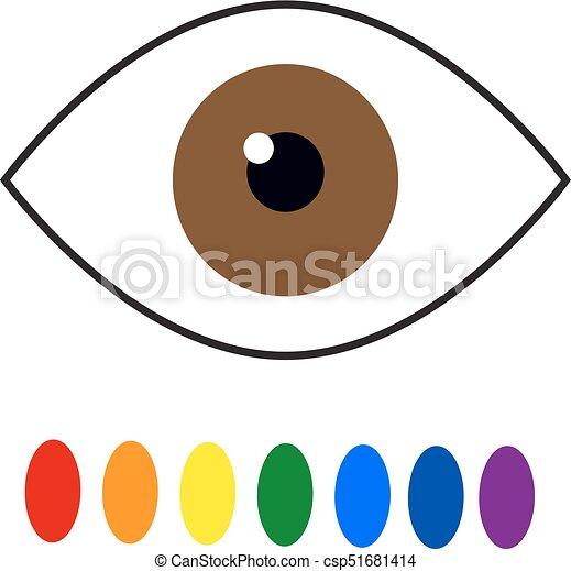 color blindness eye color perception seven colors of the rainbow rh canstockphoto com Iris Background Clip Art Clip Art Bearded Iris