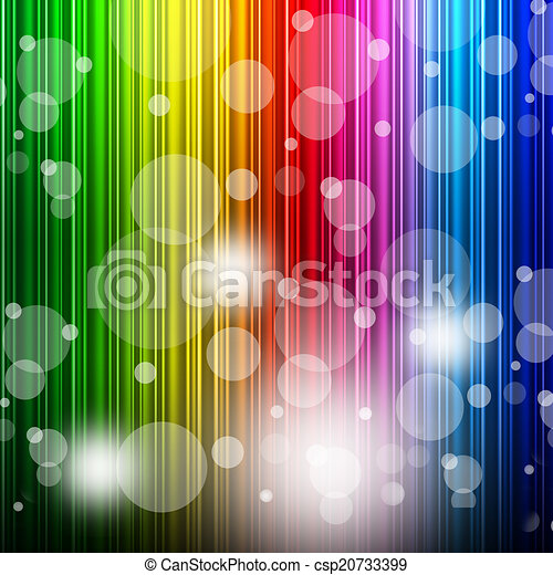 Color Bokeh Shows Colors Multicoloured And Backgrounds - csp20733399