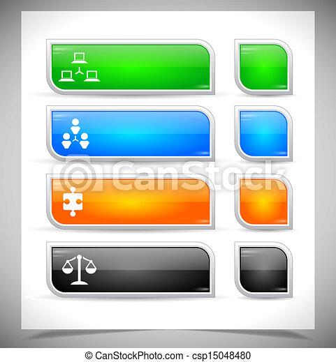 Botones de color plástico para la web. - csp15048480