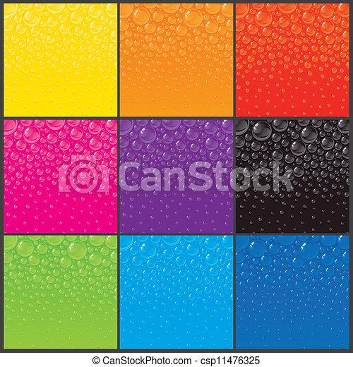 color, burbujas, fondos - csp11476325