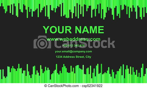 Color business card template design vector identity illustration color business card template design vector identity illustration with vertical stripes in green reheart Gallery