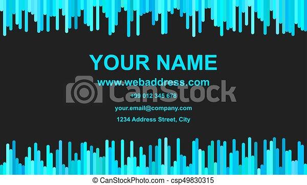 Color business card template design vector illustration with color business card template design vector illustration with vertical stripes in light blue tones colourmoves