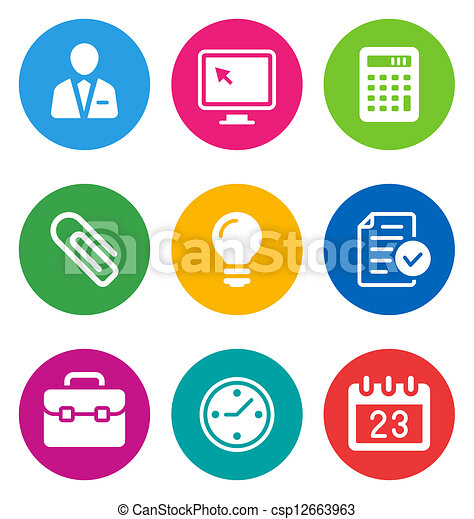 color business icons - csp12663963