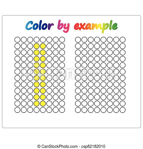 Color by example. Learning alphabet, letters. worksheet for preschool children, kids. ABC Coloring Book for children. Puzzle for children. - csp82182010