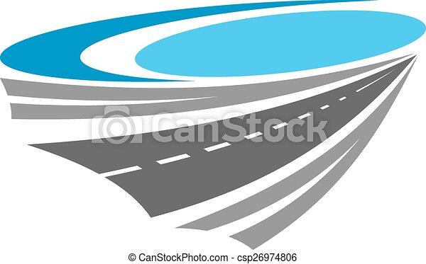 El icono del color de la carretera - csp26974806