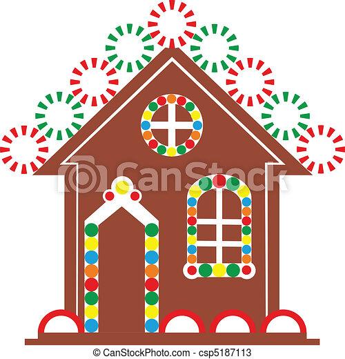 Color Casa De Pan De Jengibre