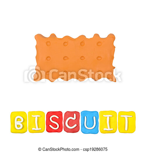 Color children's biscuit plasticine on a white background - csp19286075