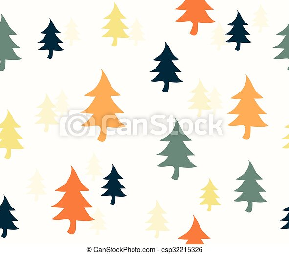 Christmas Trees Background Clipart.Color Christmas Tree Background