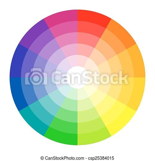 Color circle 12 colors - csp25384015