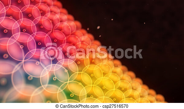 color circle cells arrange to wall close up - csp27516570