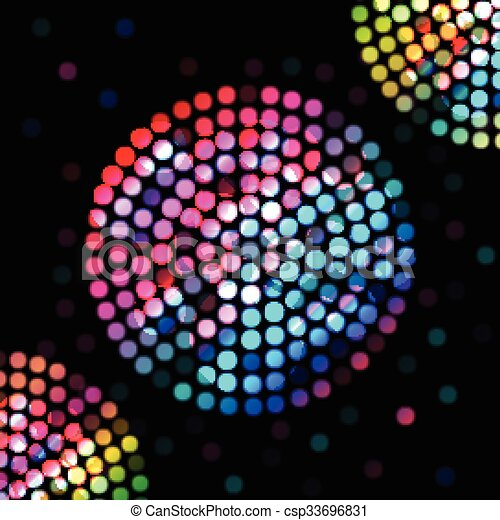 Color circle on a black background - csp33696831
