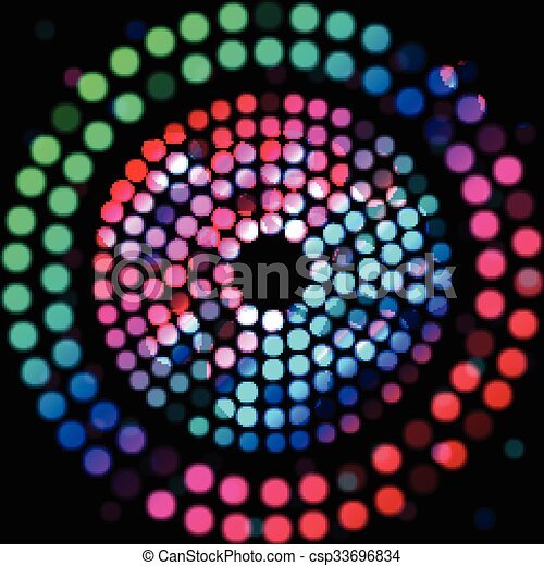 Color circle on a black background - csp33696834