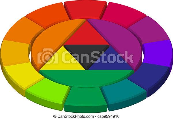 Color circle - csp9594910
