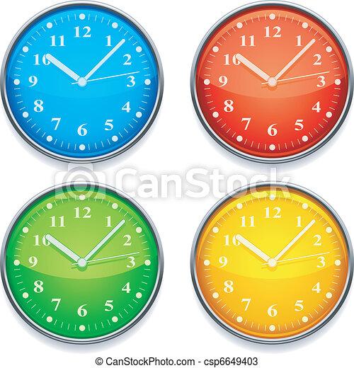Color clock. - csp6649403