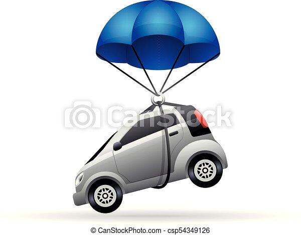 El icono de color - paracaídas de coche - csp54349126