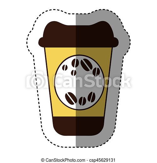 color coffee drink food icon - csp45629131